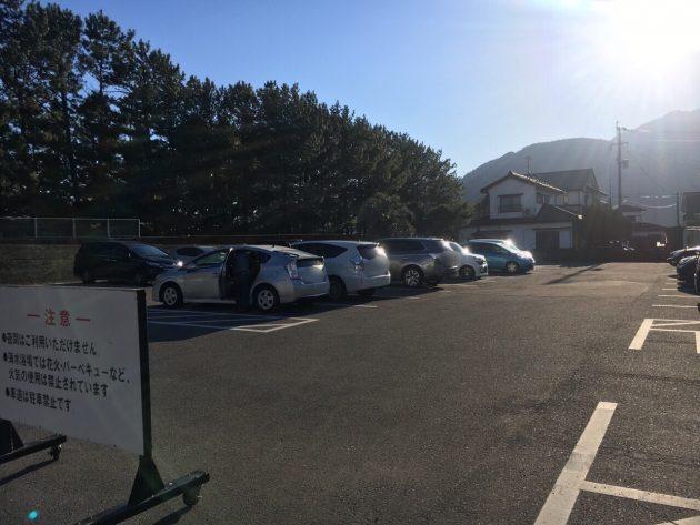 重富海岸の駐車場