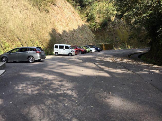 溝ノ口洞穴の駐車場